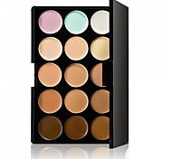 cheap -Professional Concealer Palette 15 Color Concealer Facial Face Cream Care Camouflage Makeup base Palettes Fashionable Women Cosmetic Kit Rectangle Box