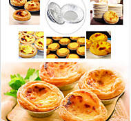 Disposable Aluminum Foil Cups Baking Bake Muffin Cupcake Tin Mold Round,Set of 50
