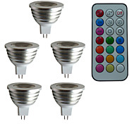 abordables -3W 300 lm GU5.3(MR16) Focos LED MR16 1 leds LED de Alta Potencia Regulable Decorativa Control Remoto RGB AC 12V DC 12V