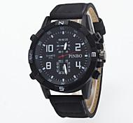 cheap -Men's Quartz Wrist Watch Sport Watch Chinese Hot Sale Genuine Leather Band Charm Creative Casual Dress Watch Fashion Multi-Colored