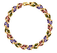 Colorful Charm Cubic Zirconia Bracelet Jewelry Design 18k Gold Plated Luxury Crystal Party Jewelry Gifts B40170