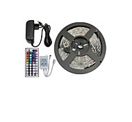 abordables -5 m Tiras de Luces RGB Sets de Luces Tiras LED Flexibles LED RGB Control remoto Cortable Regulable Color variable Auto-Adhesivas