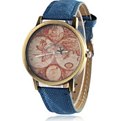 European Style Fashion Hot Retro Map of the World Plane Wrist Watch Cool Watches Unique Watches