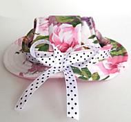 Недорогие -Кошка Собака Платки и шапочки Одежда для собак Праздник На каждый день Свадьба Цветы Розовый Костюм Для домашних животных