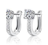 cheap -Women's Sterling Silver Silver Hoop Earrings - Birthstones For Wedding Party Daily Casual