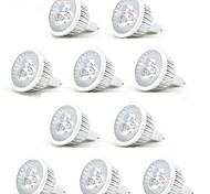 cheap -10pcs 3W 250lm MR16 LED Spotlight 3 LED Beads High Power LED Decorative Warm White Cold White 12V