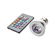 4W E26/E27 LED Spotlight MR16 1 leds 350-450lm RGB Remote-Controlled AC 85-265