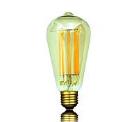 abordables -b22 e26 e26 / e27 led bulbos de globo st64 8 mazorca 450-650lm blanco cálido 2200k 2700k 3000k regulable decorativo ca 220-240 ca 110-130v