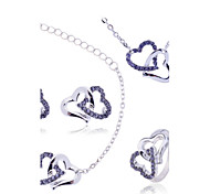 Недорогие -Жен. Набор украшений Ожерелье / серьги Ожерелье / Браслет Синтетические драгоценные камни Циркон Искусственный бриллиант Сердце Роскошь