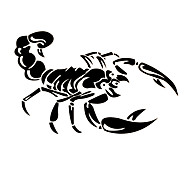 cheap -30cm Cute 3D Scorpion Car Stickers Car Styling Vinyl Decal Sticker for Car Acessories Decoration