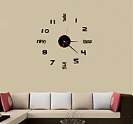 cheap -Antique / Casual / Country Acrylic Round / Rectangular / Square Indoor / Outdoor / Indoor,AAA Wall Clock