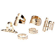 cheap -Women's Jewelry Set Cuff Ring Statement Ring Gold Alloy Leaf Heart Heart Fashion Simple Style Party Daily Casual Costume Jewelry