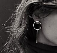 Недорогие -Жен. Серьги-гвоздики Серьги-кольца Простой стиль европейский Медь Круглый Бижутерия Для вечеринок Повседневные Бижутерия