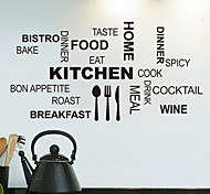 cheap -Still Life Shapes Words & Quotes Food Wall Stickers Plane Wall Stickers Decorative Wall Stickers, PVC Home Decoration Wall Decal Wall