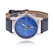 Men's Wrist watch Quartz PU Band Black Blue Brown