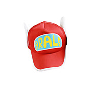 Hat/Cap Inspired by Dragon Ball Arale Anime Cosplay Accessories Hat Red / Yellow Polyester Female