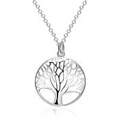 Недорогие -Жен. Дерево жизни Классический Ожерелья с подвесками Бижутерия Серебрянное покрытие Ожерелья с подвесками , Новогодние подарки Свадьба