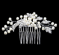 cheap -Women's Crystal Party Wedding Imitation Pearl Hair Comb
