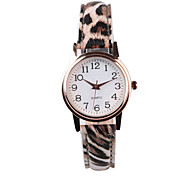 Women's Fashion Watch Quartz PU Band Leopard Multi-Colored