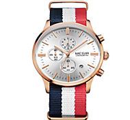 Masculino Relógio Elegante Quartz Calendário / Relógio Casual / Cronômetro Tecido Banda Branco marca