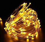 10m медный провод водонепроницаемым привело свет шнура DC12V 100LED фестиваль рождественской вечеринке свет украшения на открытом воздухе
