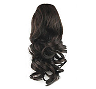 cheap -Drawstring Curly Ponytails Elastic Synthetic Hair Piece Hair Extension 14 inch Black