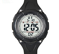 SYNOKE Men's Sport Watch Wrist watch Digital LCD Calendar Chronograph Water Resistant / Water Proof Alarm Luminous Rubber Band Black