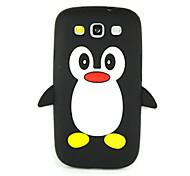 3D Penguin Silicone Protective Phone Case Cover For Galaxy S7 edge/S7/S6/S5/S4/S4 Mini/S3 Mini