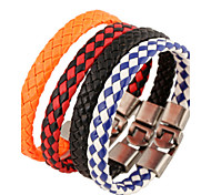 cheap -Men's Leather Leather Bracelet - Unique Design Fashion Others White Black Black/Red Bracelet For Christmas Gifts Party Daily Casual Sports