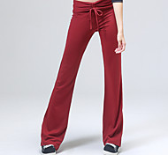 Yoga Pants Pants Breathable / Sweat-wicking Natural Stretchy Sports Wear Red / Black Women's OthersYoga