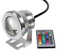 10W Lâmpada Subaquática 800-1000 lm RGB LED de Alta Potência Controle Remoto / Impermeável DC 12 V 1 Pças.