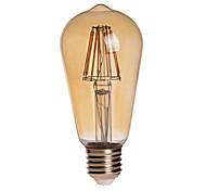 preiswerte -KWB 7W 750lm E26 / E27 LED Kugelbirnen ST64 8 LED-Perlen COB Wasserfest Dekorativ Warmes Weiß 85-265V