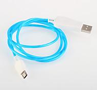Недорогие -светодиодная вспышка света USB для Samsung общего кабеля Android смартфон (1,0 м)