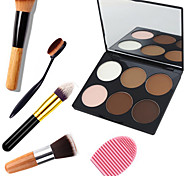 cheap -6 Highlighters/Bronzers Dry Powder Whitening Coverage Long Lasting Concealer Natural Waterproof Breathable Sun Protection Brightening Eye