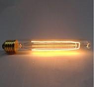 Недорогие -e27 ac220-240v 40w шелковые лампы накаливания углеродного волокна t185 вокруг жемчуга