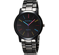 cheap -Men's Quartz Wrist Watch Water Resistant / Water Proof Stainless Steel Band Charm Black Brown