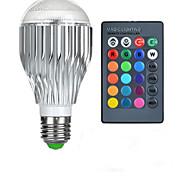 baratos -10W E26/E27 Lâmpada Redonda LED A50 1 LED de Alta Potência 600-800 lm RGB Controle Remoto AC 85-265 V 1 pç