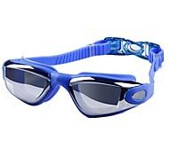 Недорогие -плавательные очки Противо-туманное покрытие Небьющийся Водонепроницаемость Инженерная резина ПК розовый черный синий Серебро Неприменимо