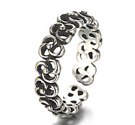 Unisex Vintage Pattern Hollow Clover Punk Antique Sterling Silver Ring Band Rings Daily / Casual 1pc