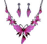 Women's Necklace/Earrings Cute Party Casual Statement Jewelry Fashion European Party Daily Casual Alloy Animal Butterfly Necklace