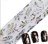 1PCS 100cmx4cm наклейки фольги блеск ногтей красивые кружева цветок лист перо изображение ногтей украшения поделок красоты stzxk16-20
