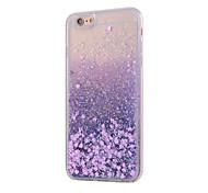 economico -Per iPhone X iPhone 8 iPhone 8 Plus iPhone 6 iPhone 6 Plus Custodie cover Liquido a cascata Custodia posteriore Custodia Glitterato