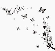 Недорогие -Животные Натюрморт Мода Цветы ботанический Винтаж Отдых Наклейки Простые наклейки Декоративные наклейки на стены, ПВХ Украшение дома