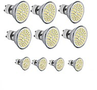 3.5 GU10 GU5.3(MR16) E26/E27 LED Spotlight MR16 60SMD SMD 2835 300-350 lm Warm White Cold White 3000-6500K K Decorative DC 12 AC 110-130 10pcs