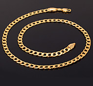 cheap -U7® 18K Chunky Gold Filled Necklace Figaro Chains High Quality Franco Necklaces Chain for Men 5MM 55CM Jewelry Christmas Gifts