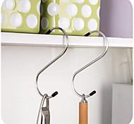 4Pcs Metal S-Shaped Hook Stainless Steel Hook Portable Hook Outdoor-tools