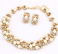 cheap -Women's Jewelry Set Necklace/Earrings Pearl Imitation Pearl Gold Pearl Alloy Cute Party Work European Party Daily Casual Earrings