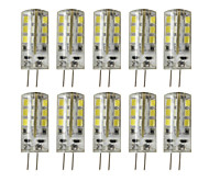 3W G4 LED Bi-pin Lights T 24 SMD 2835 200-250 lm Warm White Cold White 3000/6000 K Decorative Dimmable DC 12 V