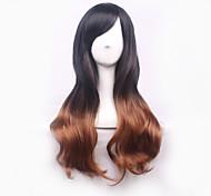 Недорогие -жен. Парики из искусственных волос Без шапочки-основы Естественные волны Волосы с окрашиванием омбре Парики для косплей Карнавальные