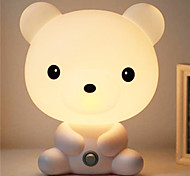 cheap -Pretty Cute Bruin Cartoon Animal Night Light Baby Room Sleeping Light Bedroom Desk Lamp Night Lamp Best for Gifts